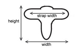 Overall buckle measurements