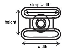 Snap buckle measurements