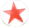 red star decorative snap fastener cap