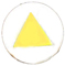 yellow triangle decorative snap fastener cap