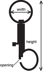 Ring-style snap hook measurements