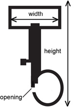 Strap-style snap hook measurements
